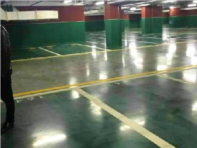 绿色车库地坪